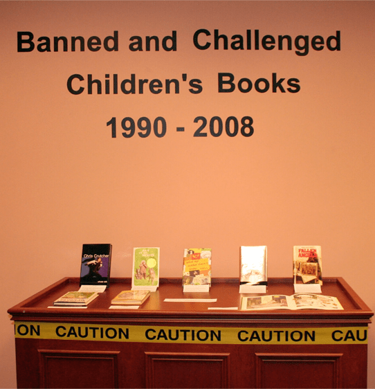 banned & Challenged books photograph