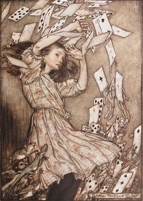 Arthur Rackham Alice in Wonderland illustration
